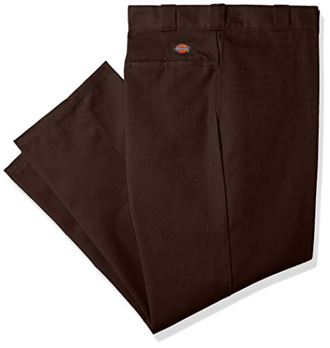 - Dickies Men's Big and Tall Original 874 Work Pant, Dark Brown, 46W x 34L