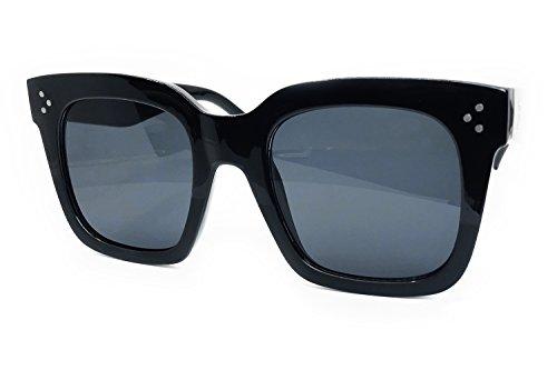 O2 Eyewear 7222 Premium Oversize XXL Women Men Mirror Revo Havana Tilda Shadow Style Fashion Sunglasses (HALF BLACK/HALF MATTE BLACK FRAME, TILDA ()