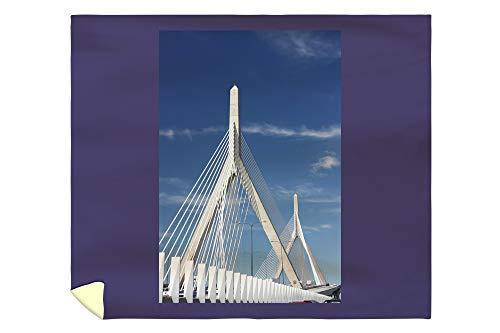 Micro Bridge Engineering (Lantern Press Zakim Bridge Boston Massachusetts A-91116 (88x104 King Microfiber Duvet Cover))