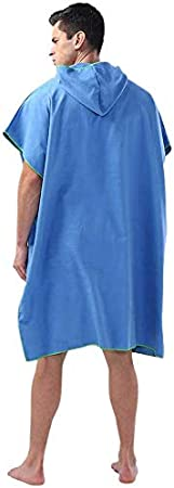 Grey ZDYS be Adults With Hood Quick Drying Gift Water Absorb Soft Vacation Poncho be Wetsuit Changing Surfing Outdoor screen Swimming