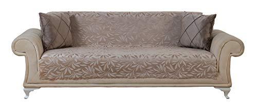 - Chiara Rose Acacia Sofa Slipcover 3 Cushion Sofa Cover 1 Piece Couch Furniture Protector Tan