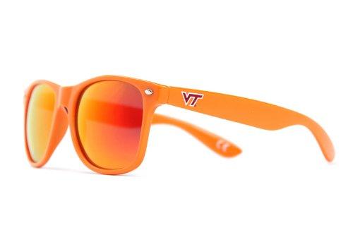 NCAA Virginia Tech Hokies VT-2 Orange Frame, Maroon Lens Sunglasses, One Size, Orange by Society43