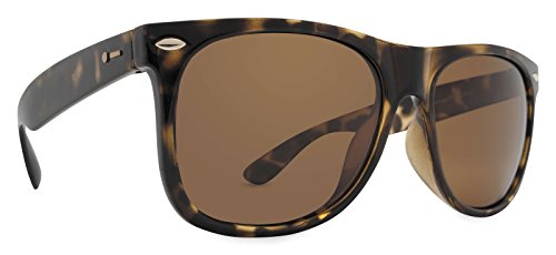 Dot Dash Kerfuffle Adult Sunglasses, Tortoise Satin/Bronze Polarized  One - Glasses Pin Dot