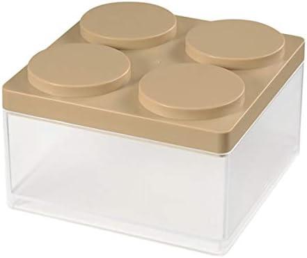 Tutoy Manjar Superpuestos Caja De Almacenamiento Ahorro Espacio Oficina Organizador De Escritorio Mini Caja De Presentación De Plástico - Beige: Amazon.es: Hogar