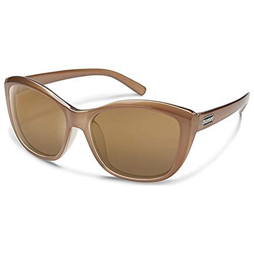 (Suncloud Skyline Sunglasses, Bronze Frame/Sienna Mirror Polycarbonate Lens, One Size)