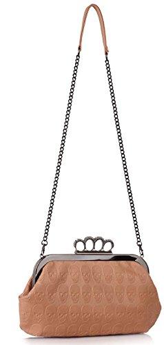 Design Nude With Purse Chain Designer New Bag Newlook Zip Clutch 1 Skull Handbag qt0BO7