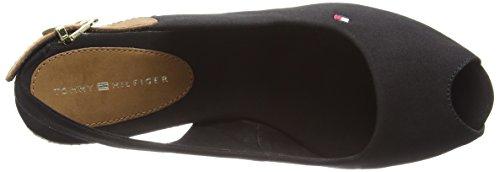 Tommy Hilfiger E1285Lba 17D - Sandalias para mujer Black