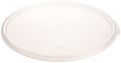 Cambro RFS12SCPP190 Cover for 12, 18 & 22 Quart Camwear Round Food Storage Containers, Transluscent (Round Storage Container Lid)