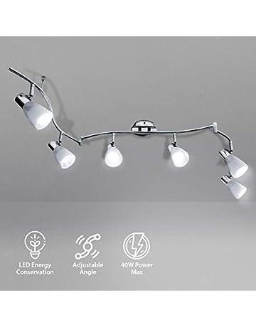 Dynamisch Deckenlampe Deckenleuchte Leuchte Lampe Silber Edelstahl 3er Strahler Beleuchtung Decken- & Wandleuchten