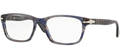 Persol PO3012V Eyeglasses 1083 Striped Grey w/ Demo Lens ()