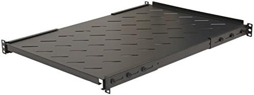 "2-pack Fixed Server Shelf 1U 19/"" 4 post Rack Mount Adjustable from 18-34/"""