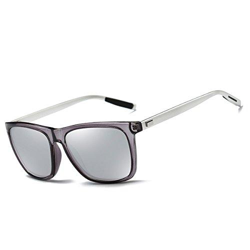 de Gafas hombre sol para FEIDU Silver wB51HxqHg
