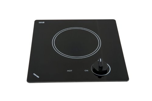 Kenyon B41606 6-1/2-Inch Caribbean Single Burner Cooktop with Analog Control UL, 240-volt, Black ()