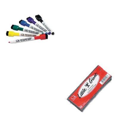 KITQRT51659312QRT804526 - Value Kit - Quartet Little Giant Economy Chalkboard Eraser (QRT804526) and Quartet ReWritables Dry Erase Mini-Markers (Economy Whiteboard Eraser)
