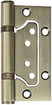 Color: Black Door Hinges 100mm//4 Inch Black Stainless Steel Interior Hinge Closet for Cabinet Door Furniture Door