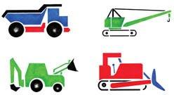 Construction Trucks Stencil - Stencil only - 10 mil medium-duty