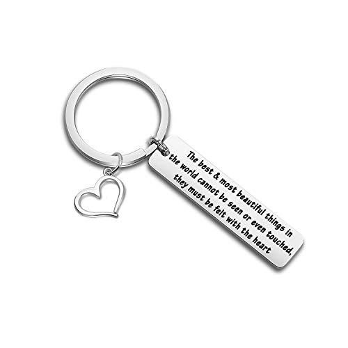 ince Quote Keychain Gift The Little Prince and Fox Jewelry Inspirational Gift for Book Lovers (Felt with Heart Keychain) ()