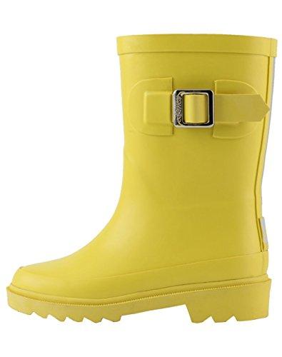OAKI Kids Rubber Rain Boots, Classic Yellow, 12T US Toddler ()
