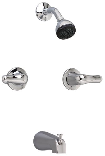 american standard colony soft bathshower fitting with tub spout and metal handles chrome