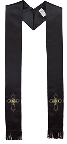 Deluxe-Satin-Clergy-Stole-with-Embroidered-Celtic-Knot-Cross