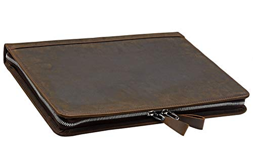 Rustic Leather Laptop Portfolio Padfolio with 3-Ring Binder for Letter A4 Paper, 13-inch MacBook Air/Surface Book by iCarryAlls (Image #5)