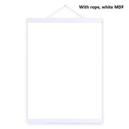 Photo Frame White Black DIY Canvas Print Hanging Wall 21-60cm A4 A3,White Frame,21cm no Print