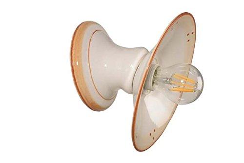 VANNI LAMPADARI - Lampada Da Parete art.001/387 In Ceramica Decorata A Mano Piatto Diametro 20 Lisco Disponibile In 5 Finiture