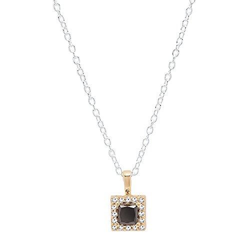 Diamond 14k Square Pendant - 5