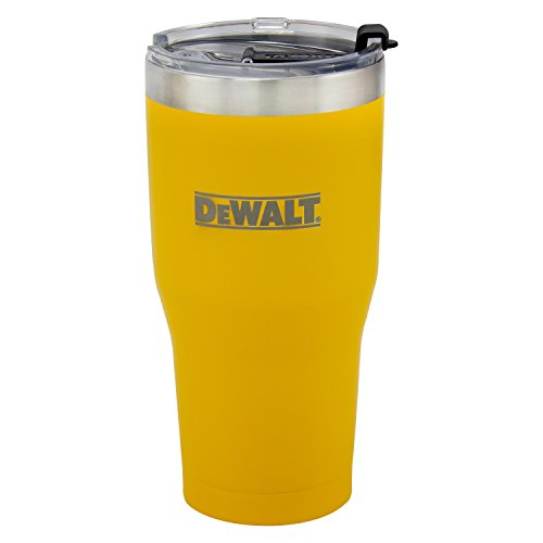 DEWALT Stainless Steel Tumbler, Yellow, 30 Ounce