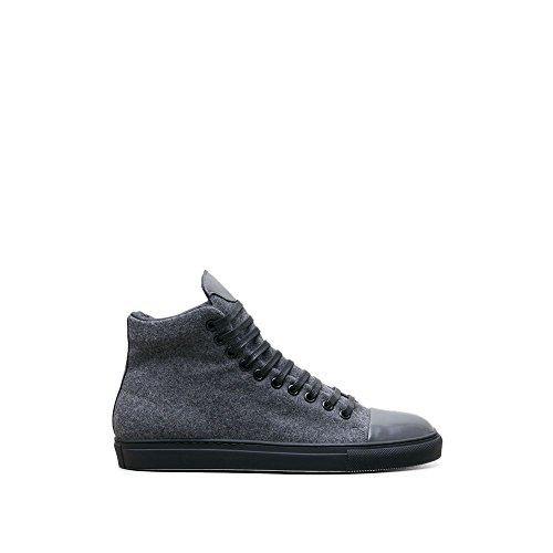 Sneaker Alta Kenneth Cole In Pelle Di Lana New York - Uomo Grigio