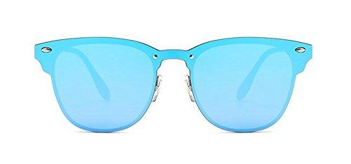 lunettes retro cercle de soleil métallique du Lennon rond en style Bleu vintage inspirées polarisées Film awraqSY