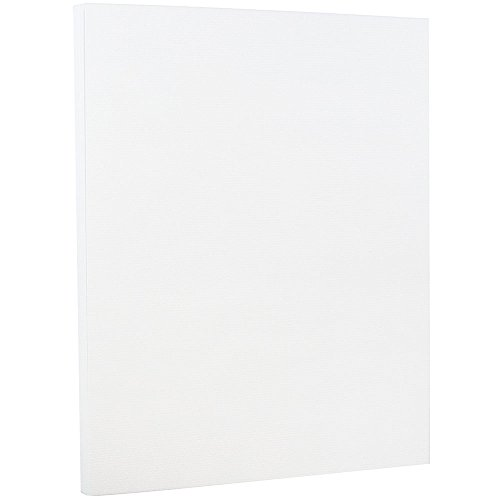 JAM PAPER Strathmore 88lb Cardstock - 8.5 x 11 Letter Coverstock - Bright White Laid -50 Sheets/Pack ()