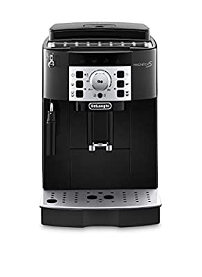 Delonghi super-automatic espresso coffee machine with an adjustable grinder, manual cappuccino maker, for brewing espresso, cappuccino, latte. ECAM22110B MagnificaS