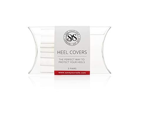 (Heel Cover - 3x Pairs of Premium 'Save Your Sole' Clear Color Protective High Heel Covers. Rubberised Heel Protector - Shrinks to Fit Your Heel Size.)