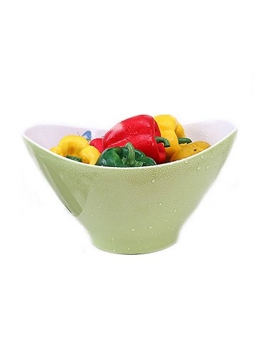 Butterfly Individual Salad Bowls (WJL European Style Melamine Salad Bowl, Green)