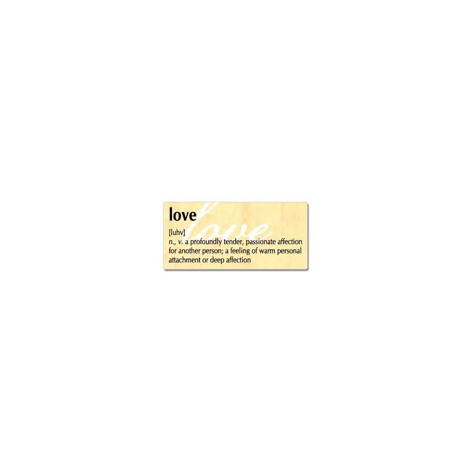 Love Definition   Window Bumper Sticker