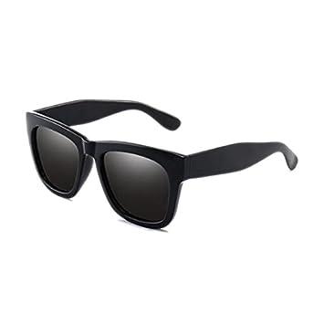 HLMMM Gafas de sol polarizadas de los hombres Marco de las mujeres Gafas de sol coreanas