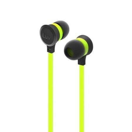 Laentina iLuv IEP334GRNN Neon Sound High-Performance Earphones, Green