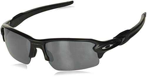 Oakley Men's Flak 2.0 OO9295-01 Non-Polarized Iridium Rectangular Sunglasses, Matte Black, 59 mm