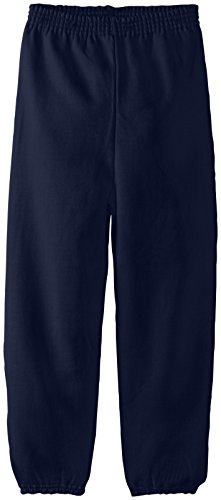 Hanes Big Boys' Eco Smart Fleece Pant, Navy, Large