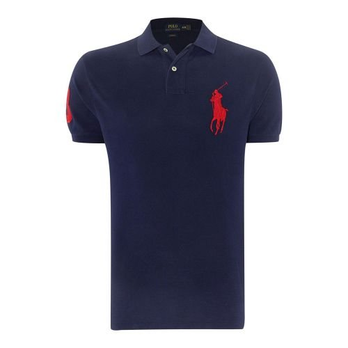 Ralph Lauren Polo Womens Knit Skinny Fit Polo Shirt Pony Logo, Red, Small
