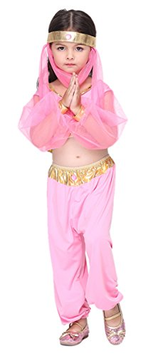 Arab Princess Costumes (Girls Belly Dance Arab Princess Halloween Costumes Child Role Play Cosplay Suits (X-Large))