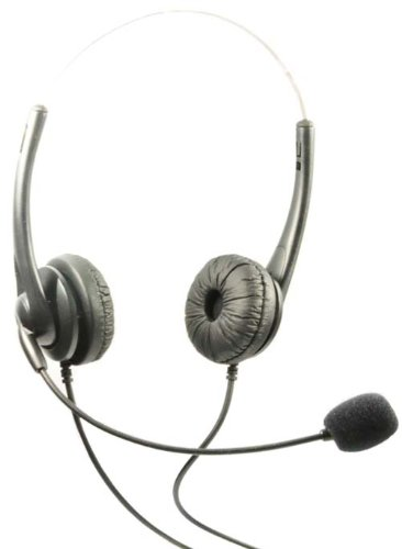 Headset Dual Headphones Call Center for Cisco IP Telephone 7931 7960 7970 7962 7975 7961 7971 7960 M12 M22 by WirelessFinest