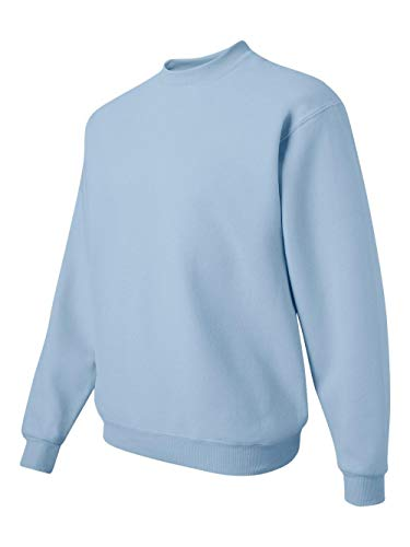 Jerzees Men's NuBlend Crew Neck Sweatshirt, Light Blue, Small