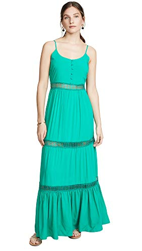 Jack by BB Dakota Women's Sunshine of My Life Maxi Dress w/Ribbon Trim Details, pepper green 4