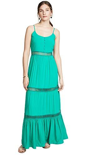 (Jack by BB Dakota Women's Sunshine of My Life Maxi Dress w/Ribbon Trim Details, pepper green 4)