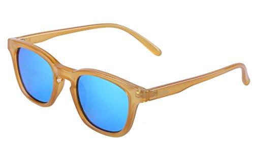 ULLERES Wayfarer Sunglasses for Boys Girls Polarized to Reduce Glare (Caramel, - Beige Sunglasses