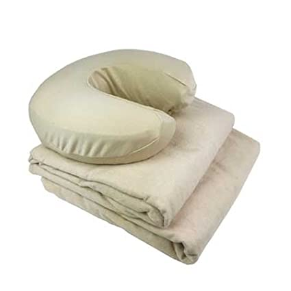 Massage Linens - Flannel - 3 Piece Set - Professional Grade Massage Table Sheets Set (Tan/Beige) Know Your Body Best