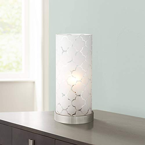 """Babette 11"""" HIgh White Glass Cylinder Accent Lamp for sale  Delivered anywhere in USA"""