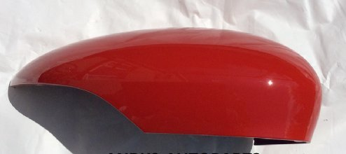 FIESTA 08-2017 PASSENGER SIDE WING MIRROR COVER IN RACE RED.